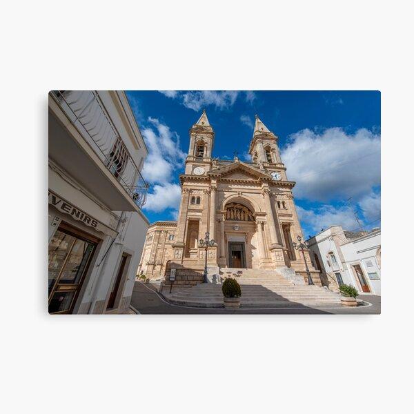 Cathedral Basilica of Saints Cosmas and Damian in Alberobello, Italy Canvas Print