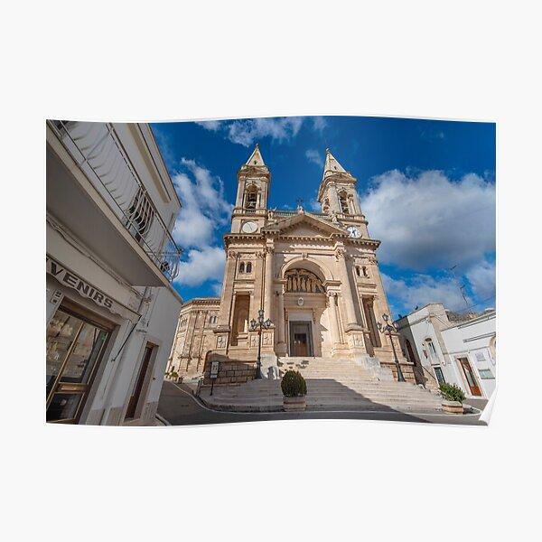 Cathedral Basilica of Saints Cosmas and Damian in Alberobello, Italy Poster