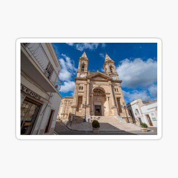 Cathedral Basilica of Saints Cosmas and Damian in Alberobello, Italy Sticker