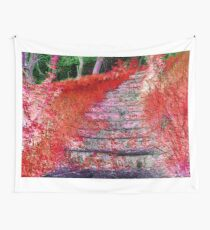 Stairway To Somewhere: A Fall Night Wall Tapestry