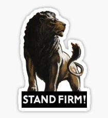 Stand Firm Lion -- WW2 Propaganda Sticker
