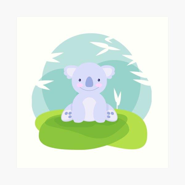 Le koala violet le plus mignon de tous les temps Impression artistique