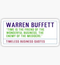Timeless Business Quotes, Warren Buffett Sticker