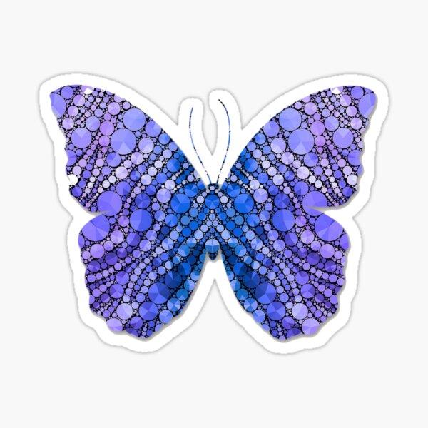 Blue spotty butterfly Sticker