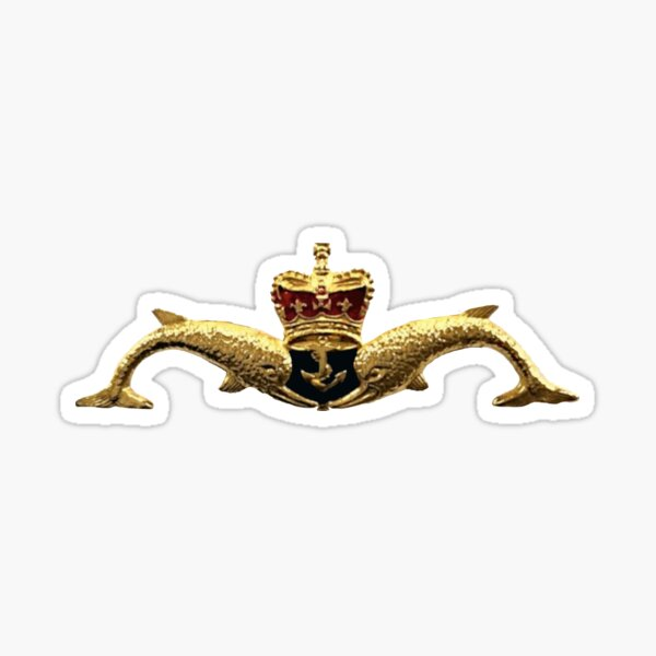 UK Submariner Dolphins Sticker