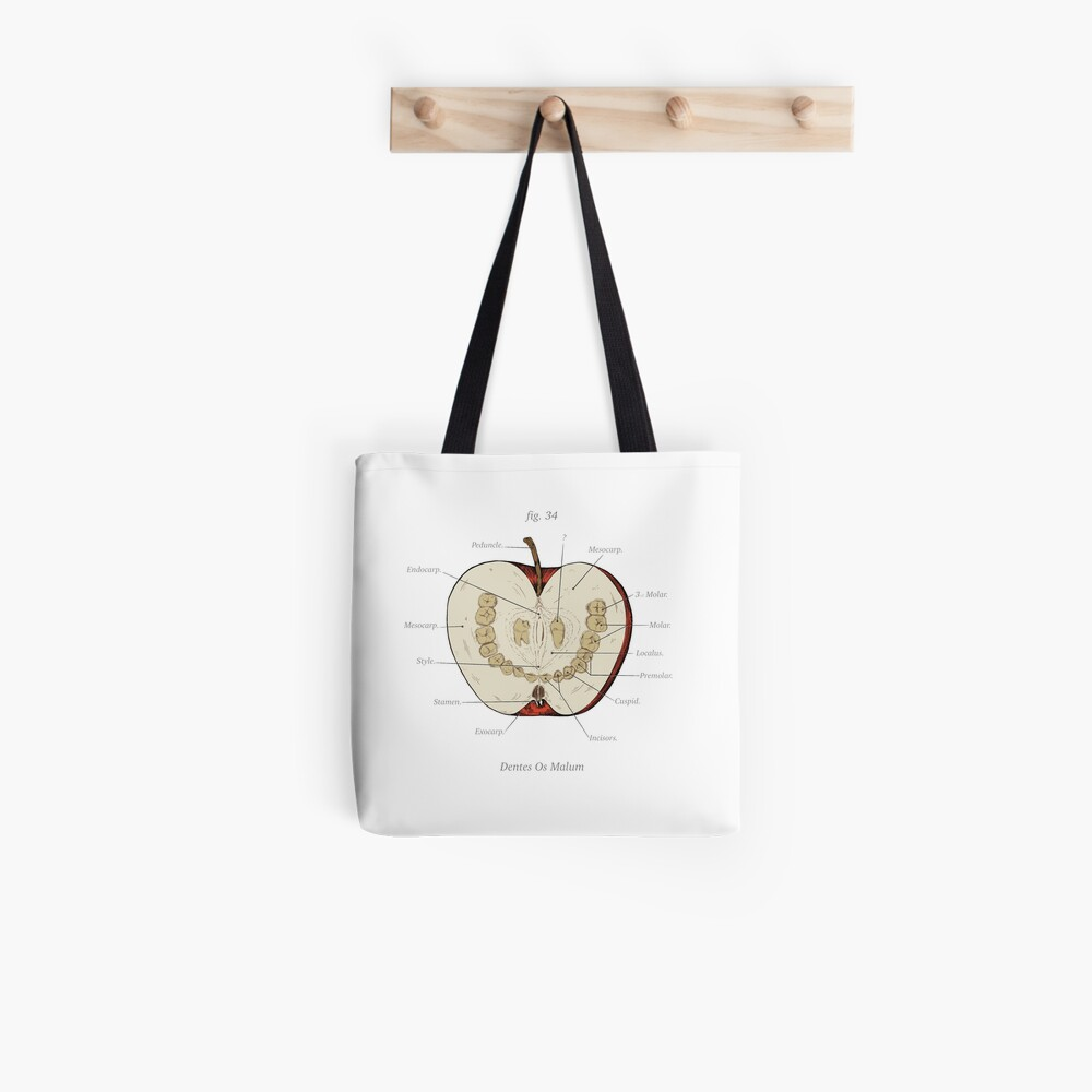 The Magnus Archives - Anatomy Class - Teeth Apple Tote Bag