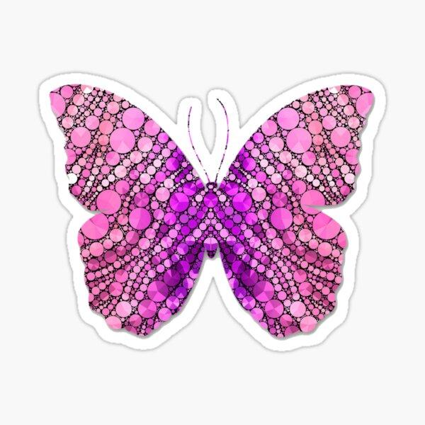 Pink pattern butterfly Sticker