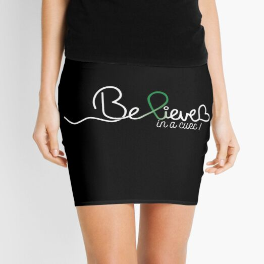 Believe- Depression Awareness Gifts for Women Depression Support Ribbon Mini Skirt