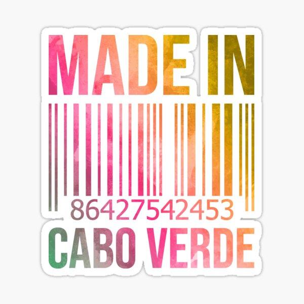 Fabriqué au Cap-Vert à l'aquarelle Sticker