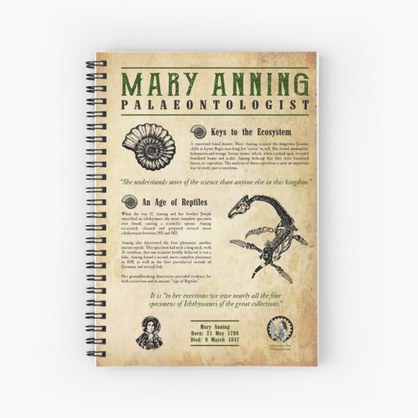 Mary Anning: Palaeontologist Spiral Notebook