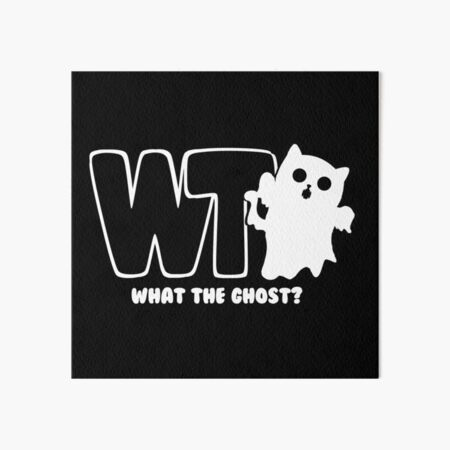 What The Ghost? - Light Art Board Print