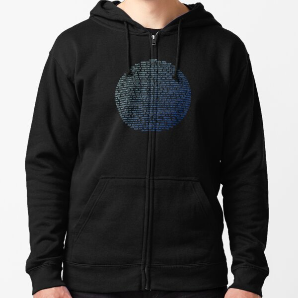 Pale Blue Dot - Carl Sagan Zipped Hoodie
