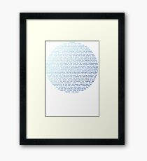 Pale Blue Dot - Carl Sagan Framed Print