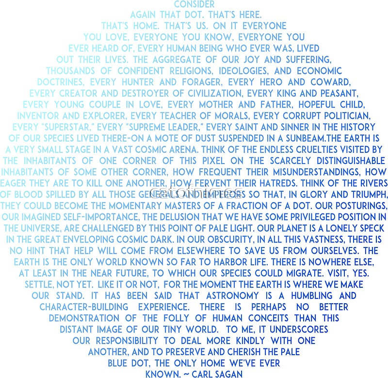 Quot Pale Blue Dot Carl Sagan Quot Stickers By Catofnimes