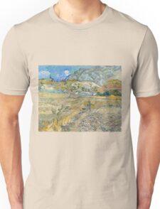 Vincent Van Gogh - Landscape at Saint-Rémy, Enclosed Field with Peasant 1889 Unisex T-Shirt