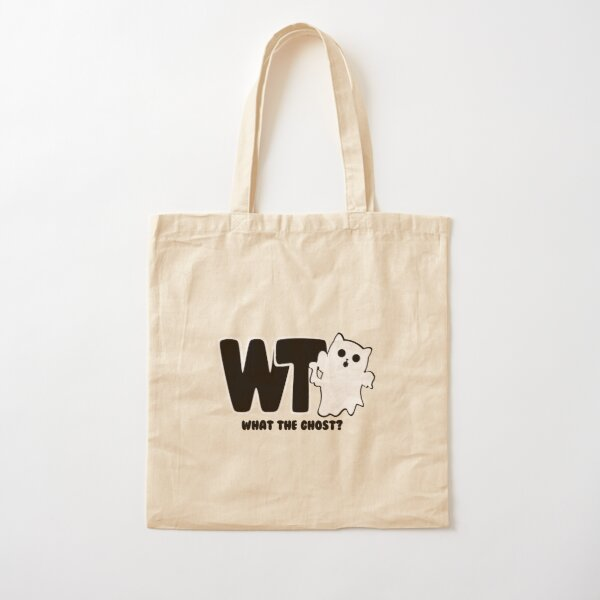 What The Ghost? Dark Cotton Tote Bag