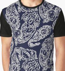 Cosmic Paisley Navy Graphic T-Shirt