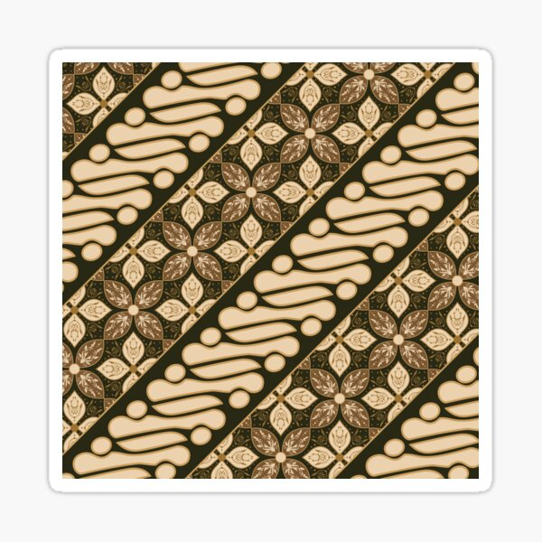 Batik Parang Design - Parang Batik Design - Batik Indonesia - Indonesian Batik Sticker