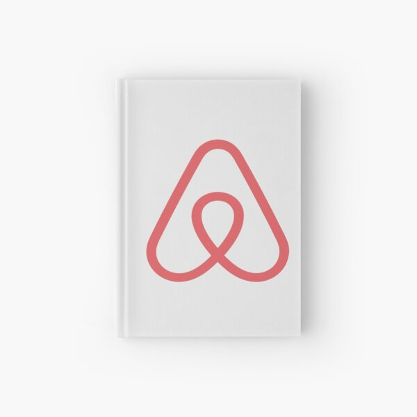 Airbnb Logo Icon Gift for Airbnb fan Hardcover Journal