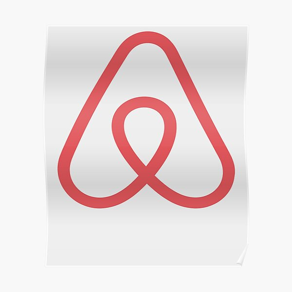 Airbnb Logo Icon Gift for Airbnb fan Poster