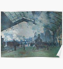 Claude Monet - Arrival of the Normandy Train  Gare Saint-Lazare  Poster
