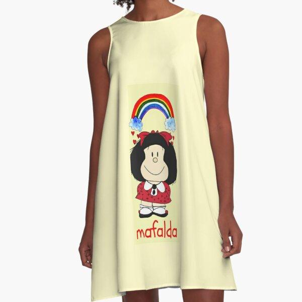 Mafalda rainbow Vestido acampanado