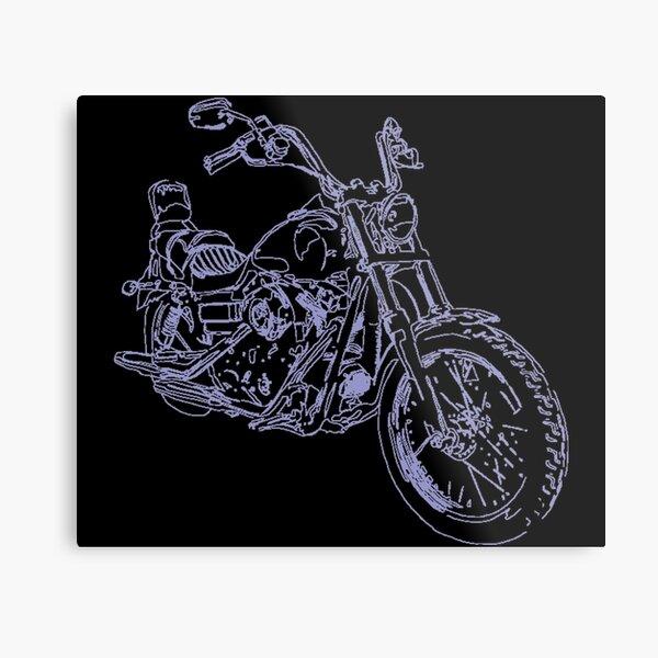 Motorbike Black Metal Print