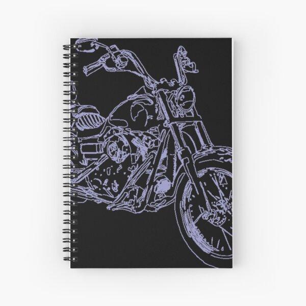 Motorbike Black Spiral Notebook