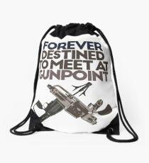 Meet at Gunpoint Drawstring Bag