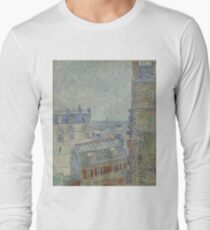 Vincent Van Gogh - View from Theo's apartment, March 1887 - April 1887 Long Sleeve T-Shirt