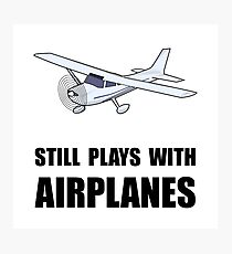 Plays With Airplanes Photographic Print