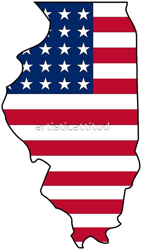 Illinois Outline T Shirt Design