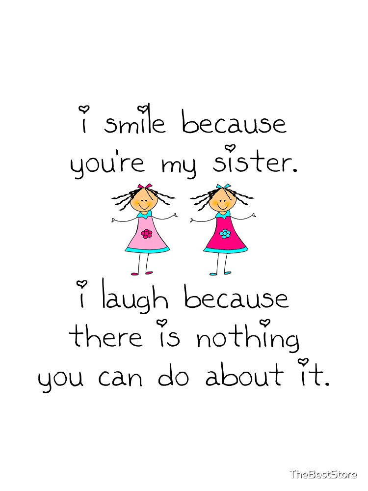 Sister in Law Funny Gift Coaster I Smile Because You/'re My Sister in Law