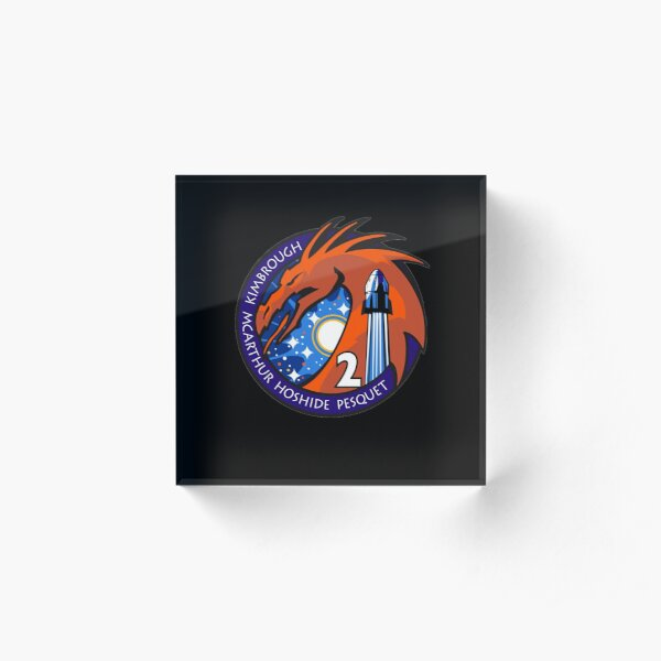 Spacex Crew-2 Mission Logo NASA Patch Acrylic Block