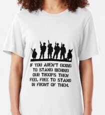 Stand Behind Troops Slim Fit T-Shirt