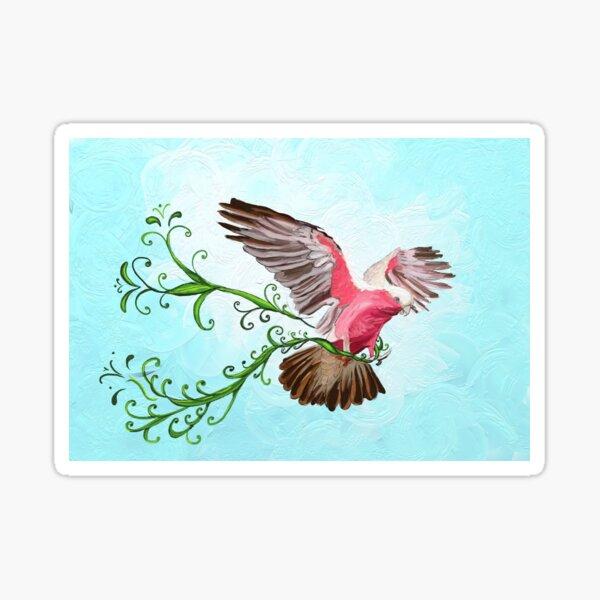 Pink & Grey Galah Parrot Australian Bird Art Print Sticker