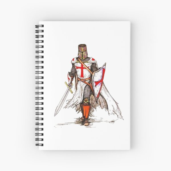 Templar Knight Spiral Notebook