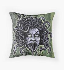 Medusa Gorgon Throw Pillow