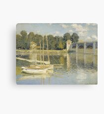 Claude Monet - Le Pont d'Argenteuil, Monet Canvas Print