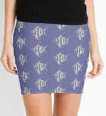 Watercolor tropical fish 2 Mini Skirt