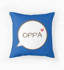 OPPA - Blue Throw Pillow