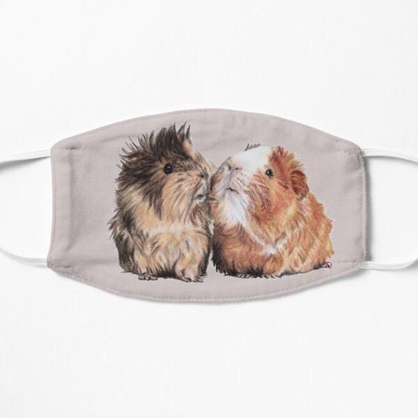 Cavy sweet couple guinea pig pets portrait Flat Mask