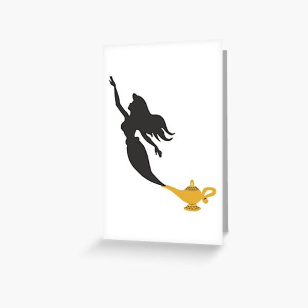 Mermaid - Genie Lamp Greeting Card