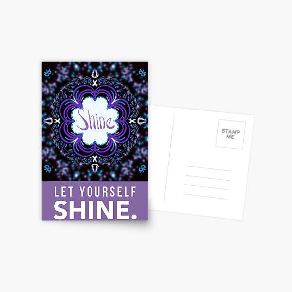 Let yourself shine  Postcard
