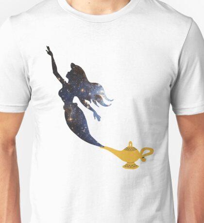 Mermaid - Genie Lamp - Galaxy Unisex T-Shirt