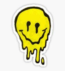 Melting Acid Smiley Sticker