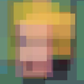 Warhol: Marilyn (computer-generated abstract version by flatfrog00