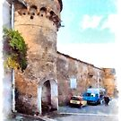 Vatolla: tower with car and truck by Giuseppe Cocco