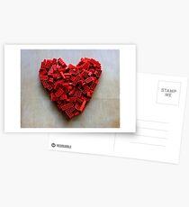 LEGO Heart Postcards