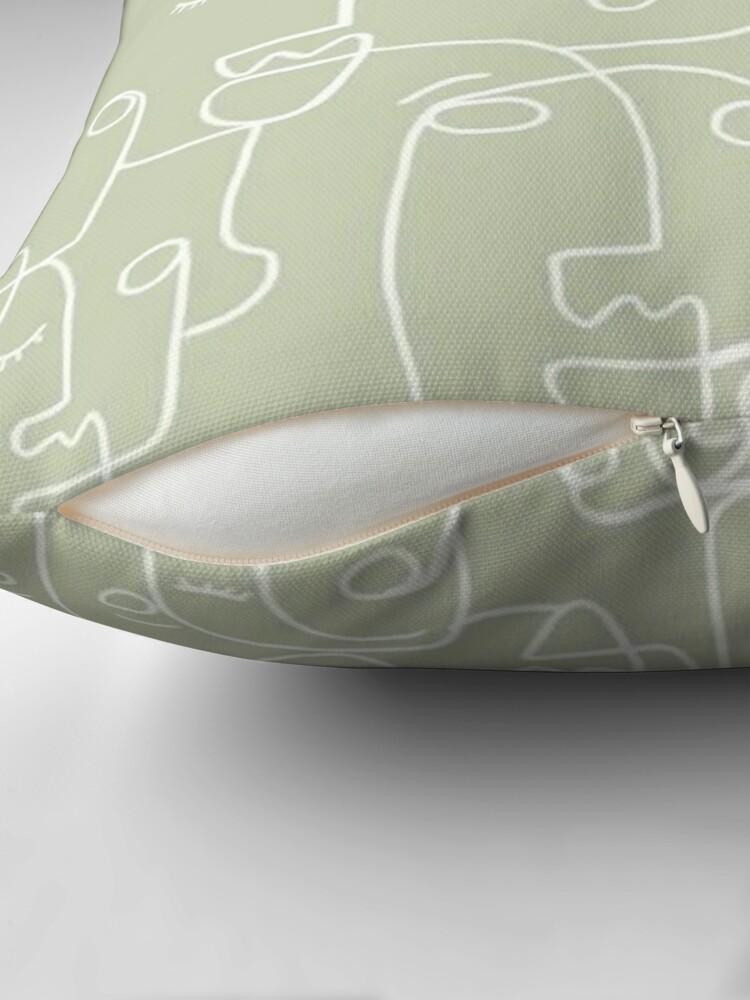 Alternate view of sage green Throw Pillow